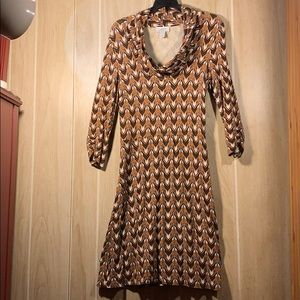 LOFT Ann Taylor Knit Deco Print Dress